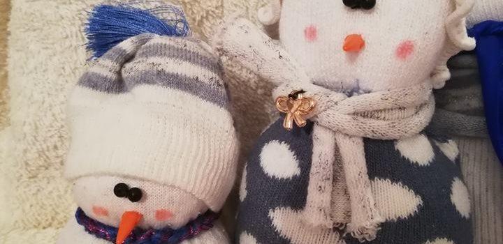 Zimowe robienie bałwanków