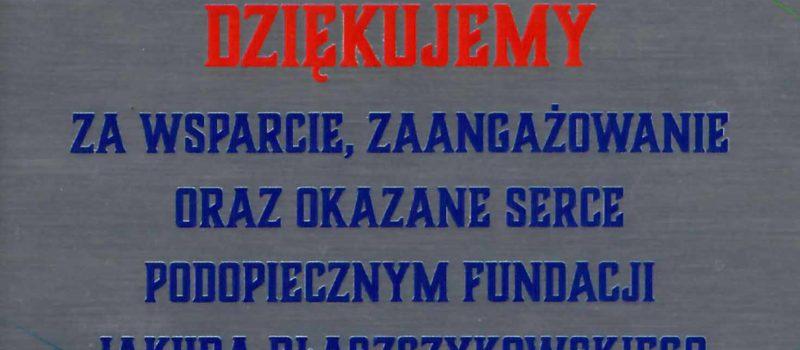 Nasze wsparcie dla Fundacji Ludzki Głos Jakuba Błaszczykowskiego